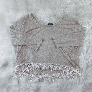 Poetry Crop Top with Lace Hem
